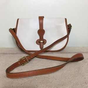 Dooney & Bourke Vintage White Brown Purse Bag